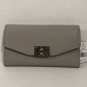 Michael Kors grey trifold wallet